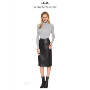 J.O.A faux leather pencil skirt
